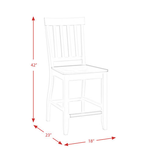Kayla Two Tone Counter Height Side Chair Set