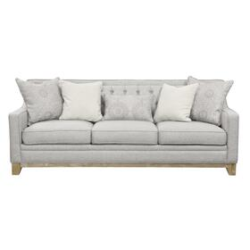 Jaizel Sofa W/ 4 Accent Pillows and 1 Kidney Pillow Grey