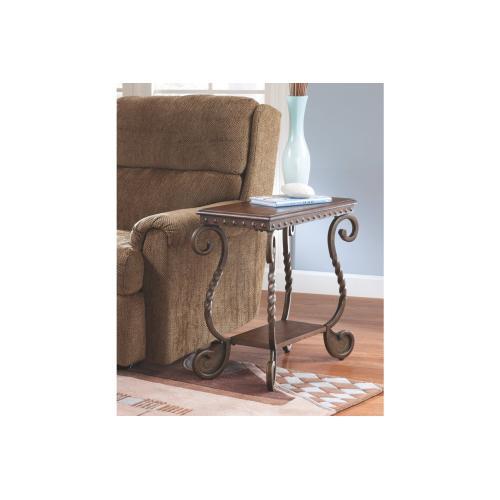 Rafferty Chair Side End Table Dark Brown