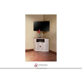 2 Door Corner TV-Stand - White Finish