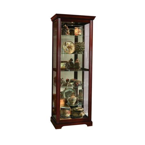 Pulaski Furniture - Two Way Sldg Door Curio Victorian Cherry