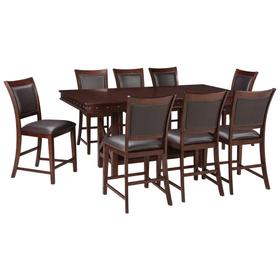 Counter Height Dining Table and 8 Barstools