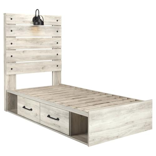 Cambeck Twin Panel Bed With 4 Storage Drawers