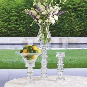 Glass Ribbed Candleholder/Vase-Sm