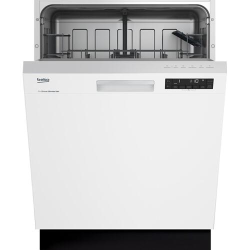 White Front Control, Pocket Handle Dishwasher, 5 Programs, 48 dBA
