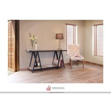 """See Details - 65"""" Wooden console with 2 Shelves with metal accents"""