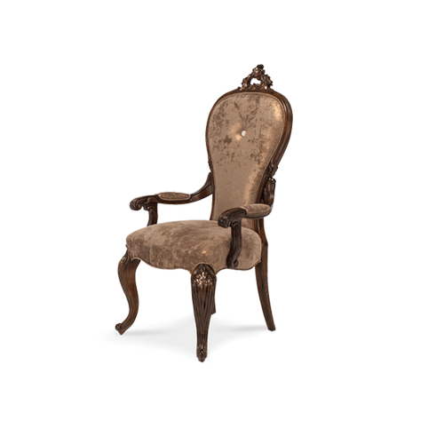 Platine de Royale Arm Chair Light Espresso