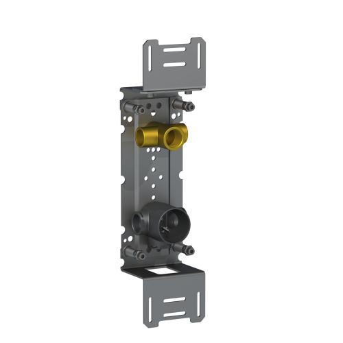 Build-in valve with on-off sensor for 'hands free' operation for vertical installation