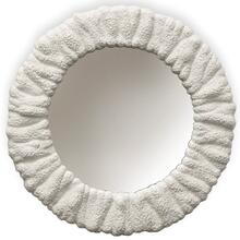 Milk White  Traditional Coastal  Composite Framed Wall Mirror