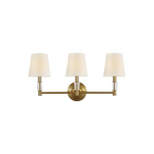 Lismore 3 - Light Vanity Burnished Brass