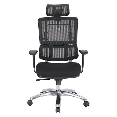 Office Star - Vertical Black Mesh Back Chair With Headrest