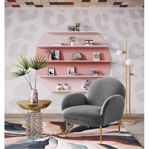 Tov Furniture - Gwen Grey Velvet Chair