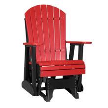 See Details - 2 Adirondack Glider Chair, Red-black