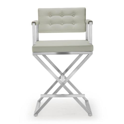 Tov Furniture - Director Light Grey Steel Counter Stool
