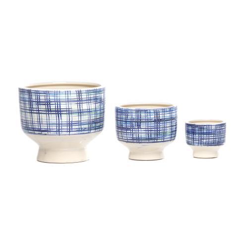 Alfresco Home - Billio Blue Cachepot - Set of 3