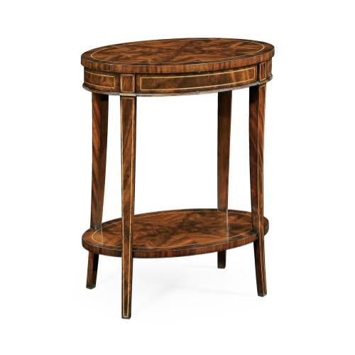 Mahogany oval lamp table