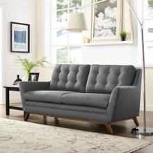 See Details - Beguile Upholstered Fabric Loveseat in Gray
