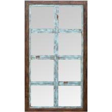 WEATHERED WOOD MIRROR  65in X 35in  Rustic Rectangle Weathered Wood Window Wall Mirror