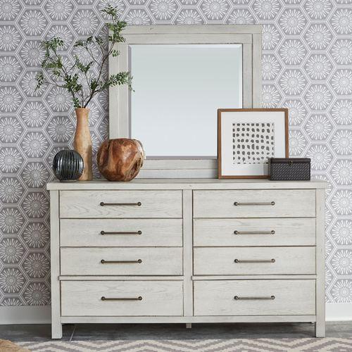 Gallery - King California Platform Bed, Dresser & Mirror, Chest