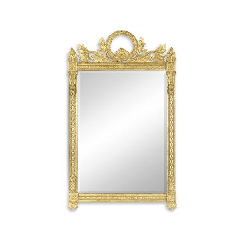 Empire style gilded mirror