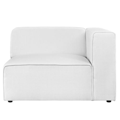 Mingle Fabric Right-Facing Sofa in White