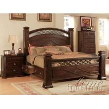 Walnut Finish Storage Bedroom Set