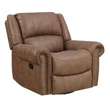 Spencer Swivel Reclining Glider Brown