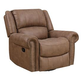 Spencer Swivel Reclining Glider Light Brown