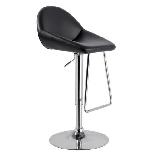 Modrest Mel - Contemporary Black Eco-Leather Bar Stool