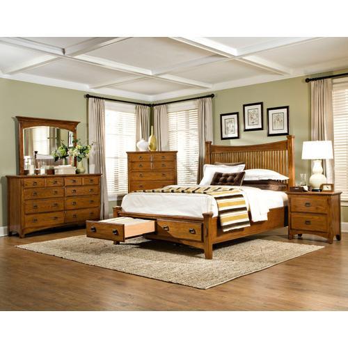 Slat Queen Storage Bed, Rails and Slats