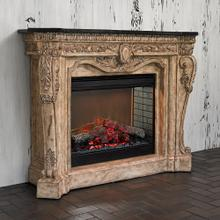 See Details - Floral Electric Fireplace