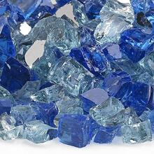 "See Details - 1/2"" Bora Bora Reflective, 10 Lb. Jar Fire Glass"