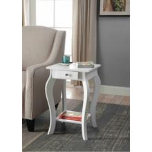 7092 WHITE Square Top End Table