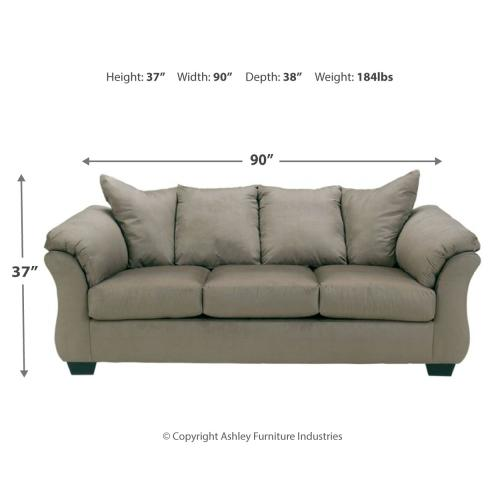 Darcy Cobblestone Full Sofa Sleeper