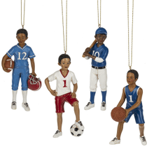 Boy Sport Ornaments (12 pc. ppk.)