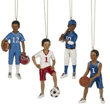 Boy Sport Ornaments (12 pc. ppk.)
