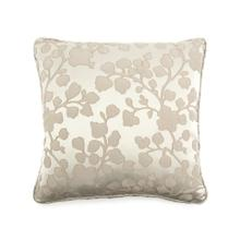 Toss Pillow with a Floral Taupe Pattern