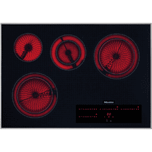 Electric cooktop with direct selection plus including timer for maximum user convenience.