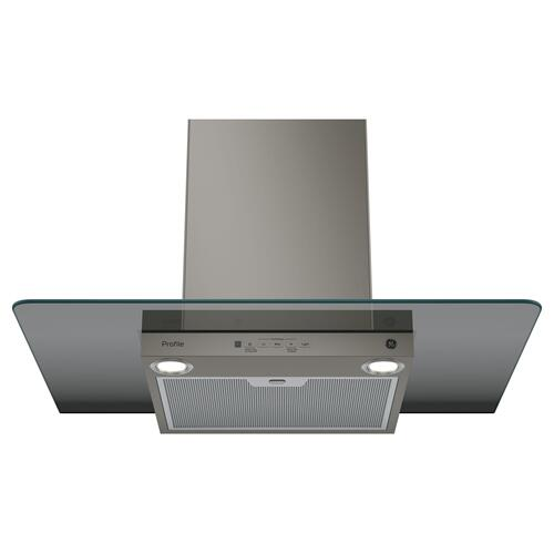 "GE Profile™ Series 30"" Wall-Mount Glass Canopy Chimney Hood"