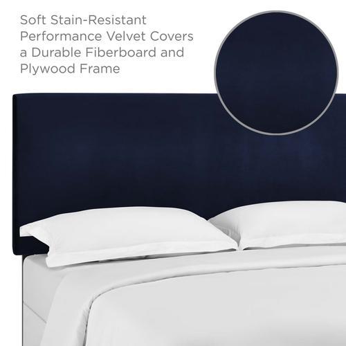 Modway - Taylor Full / Queen Upholstered Performance Velvet Headboard in Midnight Blue