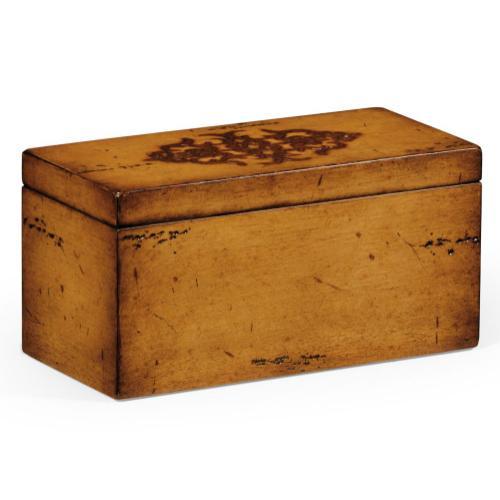 Raised celtic veneer narrow rectangular box