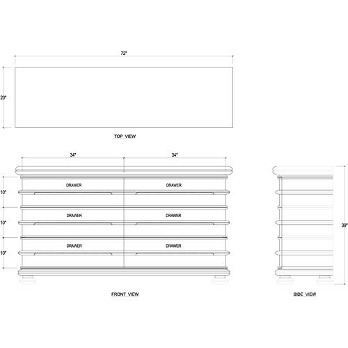 Gallery - Tiburon 6 Drawer Dresser