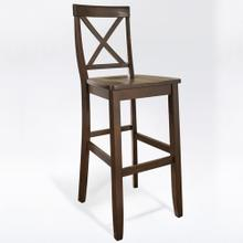 X-BACK 2PC BAR STOOL SET