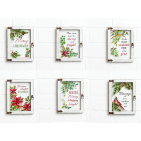 Christmas Blessings Window Plaques (12 pc. ppk.)