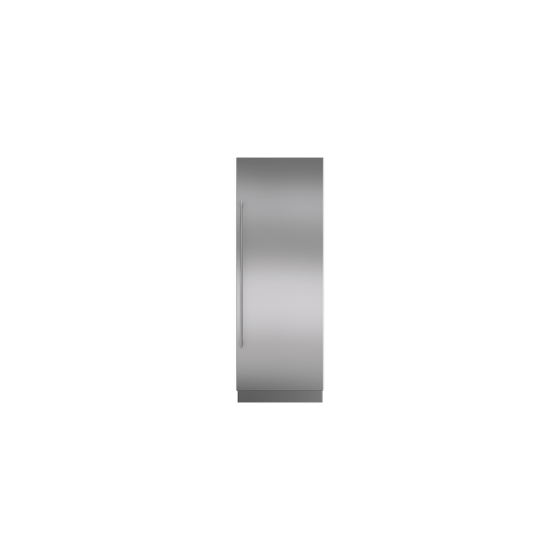 """Integrated Stainless Steel 30"""" Column Door Panel with Tubular Handle - Right Hinge"""