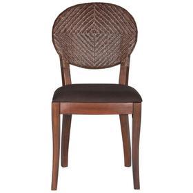 "Prisco 18""h Rattan Side Chair - Brown"