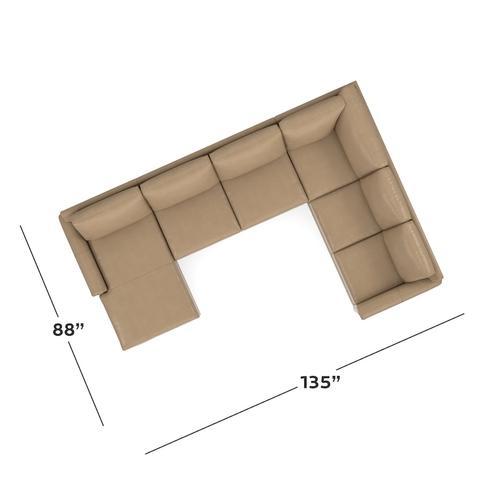 CU.2 Leather U-Shaped Sectional