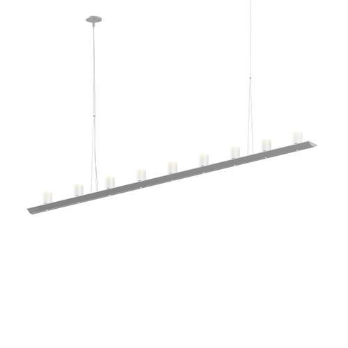 "Sonneman - A Way of Light - Votives LED Bar Pendant [Size=6', Color/Finish=Bright Satin Aluminum, Shade Size=3"" height x 2.25"" diameter]"