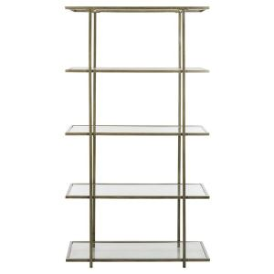 Francis 5 Tier Etagere - French Silver / Clear