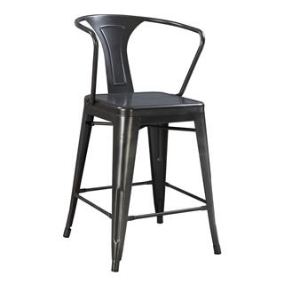 "Dakota III 24"" Bar Stool Gray"